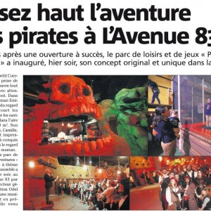 Inauguration Pirates Aventures